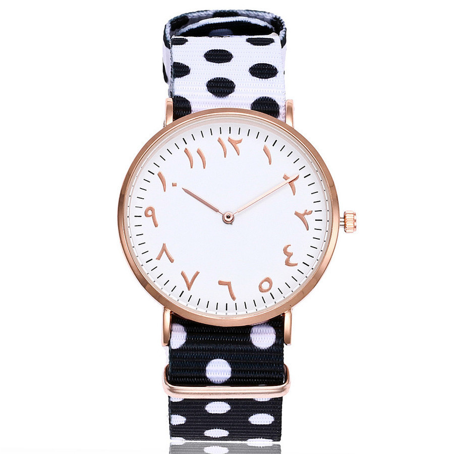 New Fashion Arabic Numbers Watches Top Brand Luxury Quartz Watch Nylon Rose Gold Watch Clock Relojes Mujer Montre Femme luxury brand fashion casual ladies watch women rhinestone watches dress rose gold quartz female clock montre femme relojes mujer