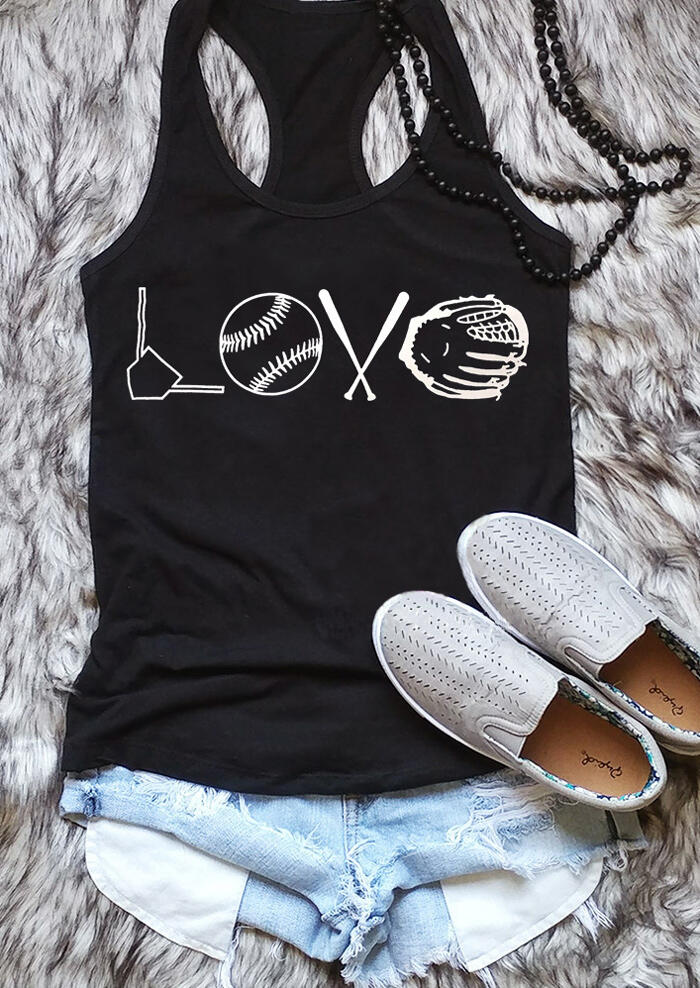 Vest love baseball   tank     tops   cotton summer sexy sleeveless stylish vest shirt casual love baseball graphic camisetas   tops   outfit