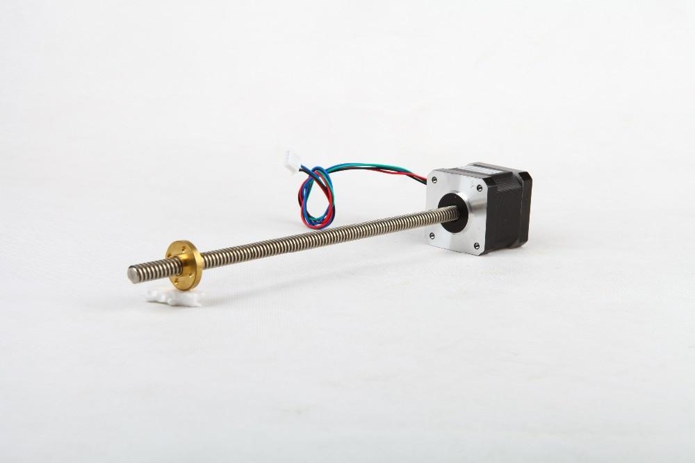 USA GRATUIT! Wantai 1 pc Nema 17 moteur pas à pas 300mm course voyage bricolage CNC Robot reprap imprimante 3D 42BYGHW609L300 CE ROHS