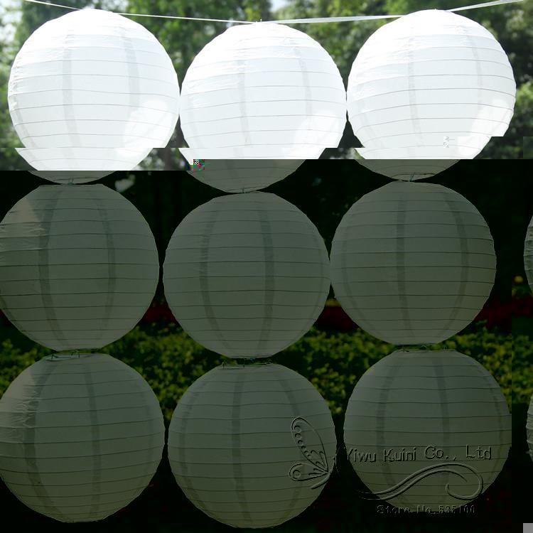 Envío libre 8 ''(20 cm) ronda linterna de papel linternas de papel blanco lámpar