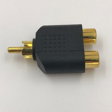цена на RCA Stereo Connector 1 Male to Dual Female Adapter Y Splitter Audio Converter Gold Plated Fine workmanship