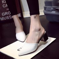 Baotou Half Slippers 2018 Summer New Muller Shoes Wear No Heel Lazy Slippers