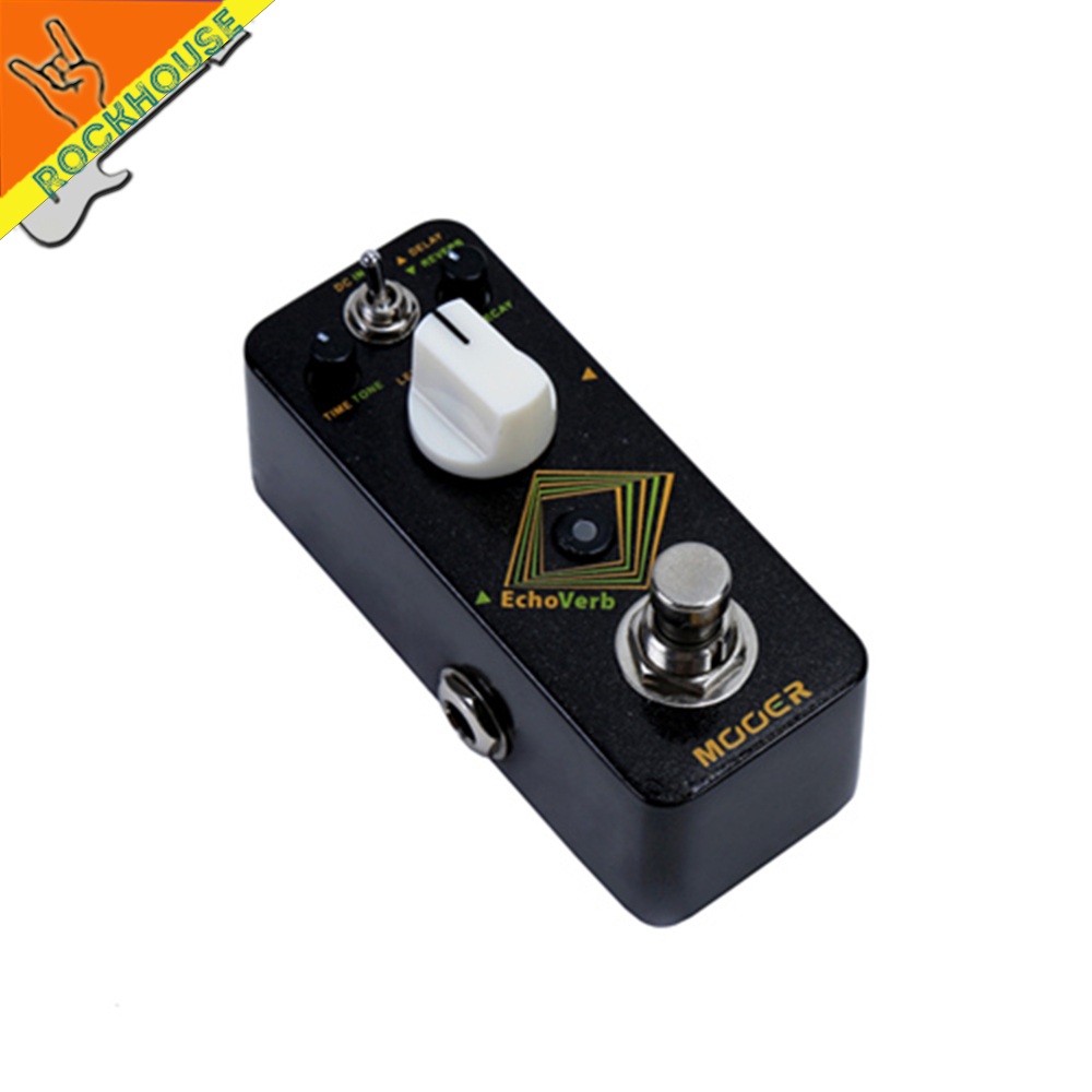 Mooer Echoverb Reverb Guitar Pedal Digital Delay Guitar Effects Pedal Echo Delay 2 Models True Bypass Free Shipping mooer ana echo analog delay pedal