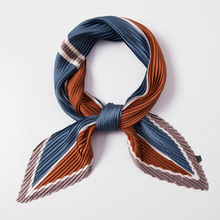 2019NEW Design printing scarf for women pleated femme scarves foulard diamond Handkerchiefs European-style Apparel Accessories