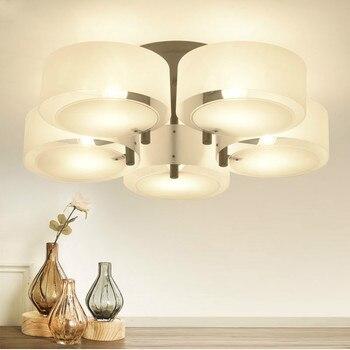 Modern Mult-Rings Acrylic Led Chandeliers Lighting Dining Room Black/White Metal Led Ceiling Chandelier Lamp Bedroom Chandelier