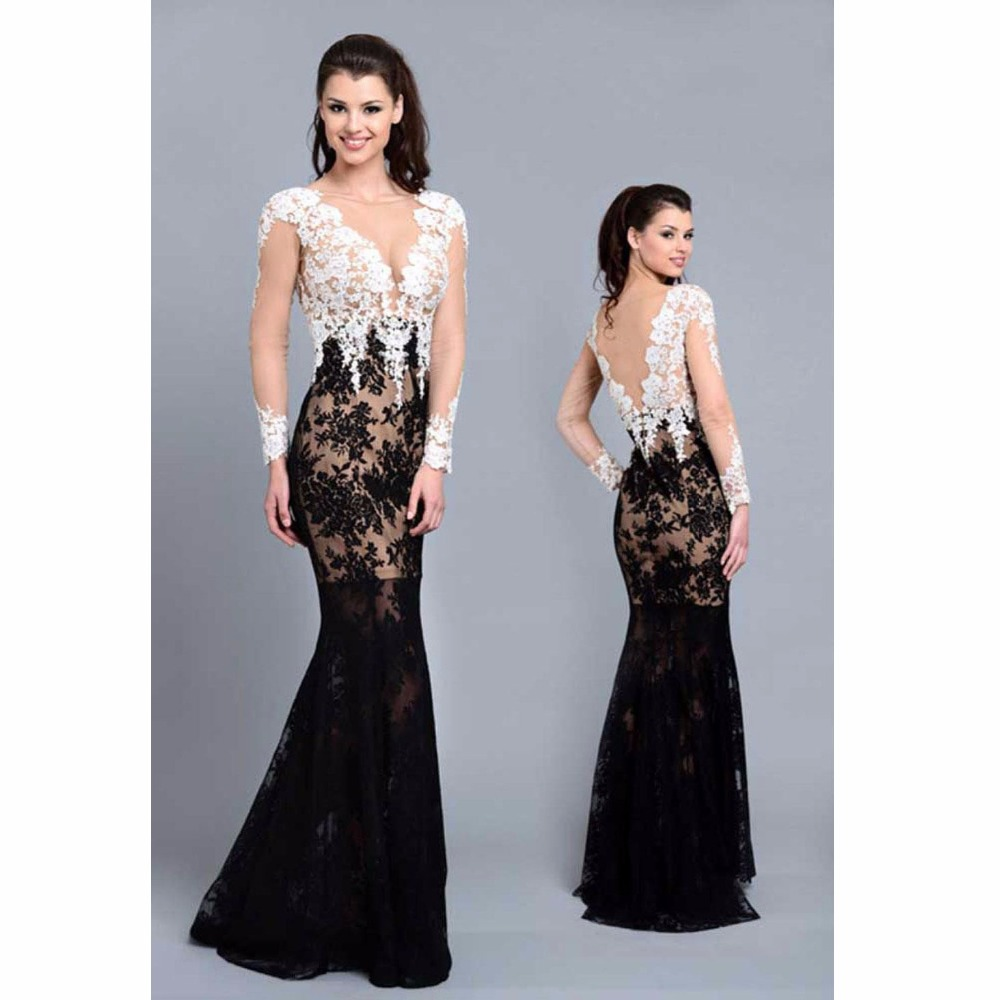 Popular Black and White Formal Gowns-Buy Cheap Black and White ...
