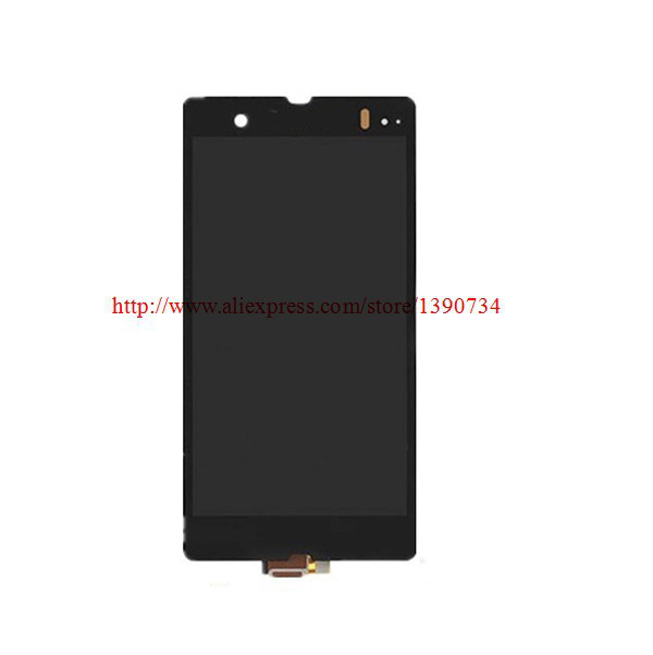LCD Display +Touch Digitizer Glass Screen Assembly For Sony Xperia Z L36H L36i C6606 C6603 C6602 C660x c6601 Black Free Shipping
