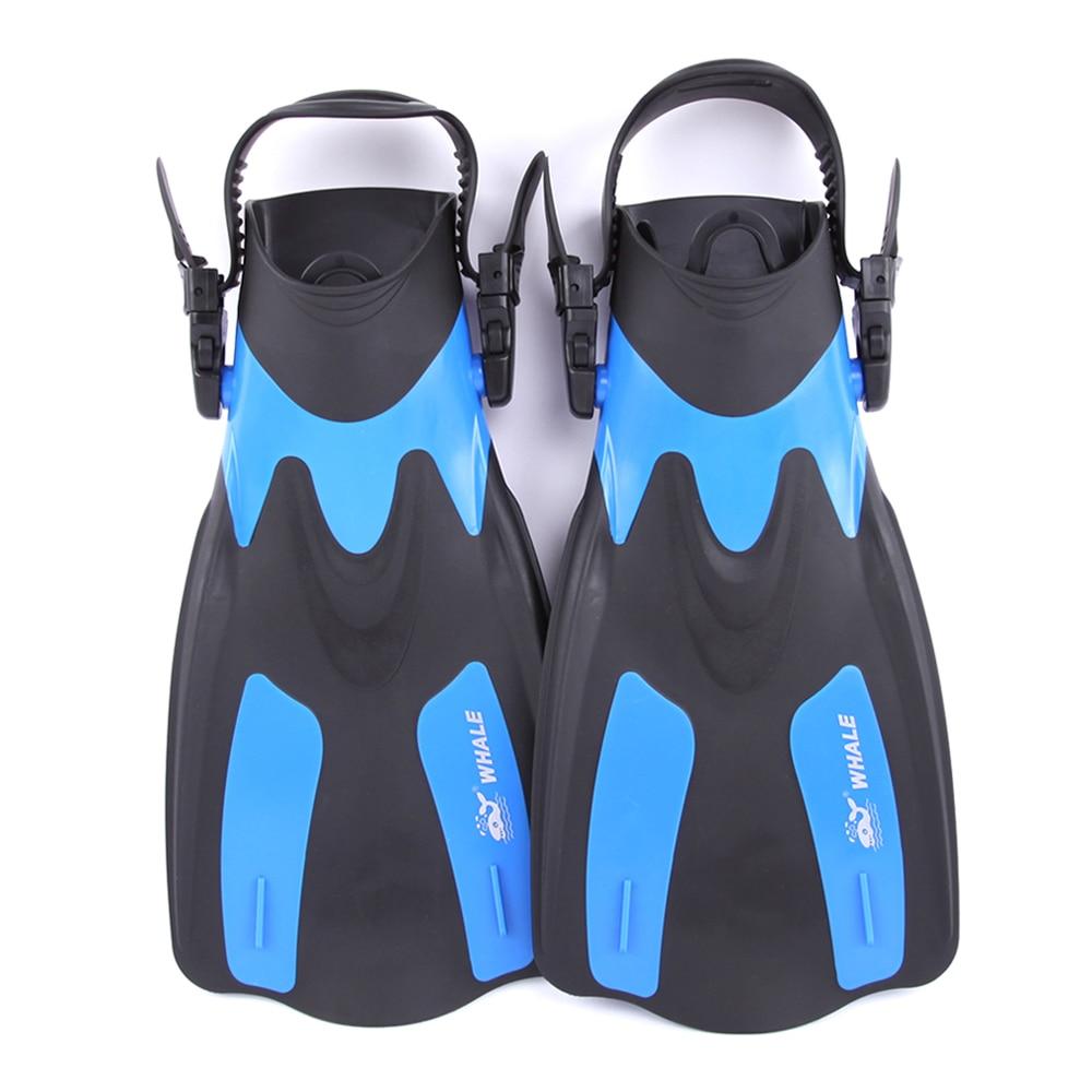 Swim Fins Adult Short Snorkeling Swimming Fins Flippers with Adjustable Heel Water Sports gym Equipment Swim Fins