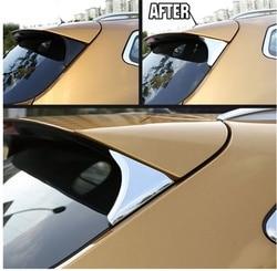 Dla Nissan Qashqai J11 2016 -2019 boczne okno tylne Spoiler Chrome pokrywa wykończenia trójkąt ozdobna ramka akcesoria samochodowe do stylizacji 2 sztuk
