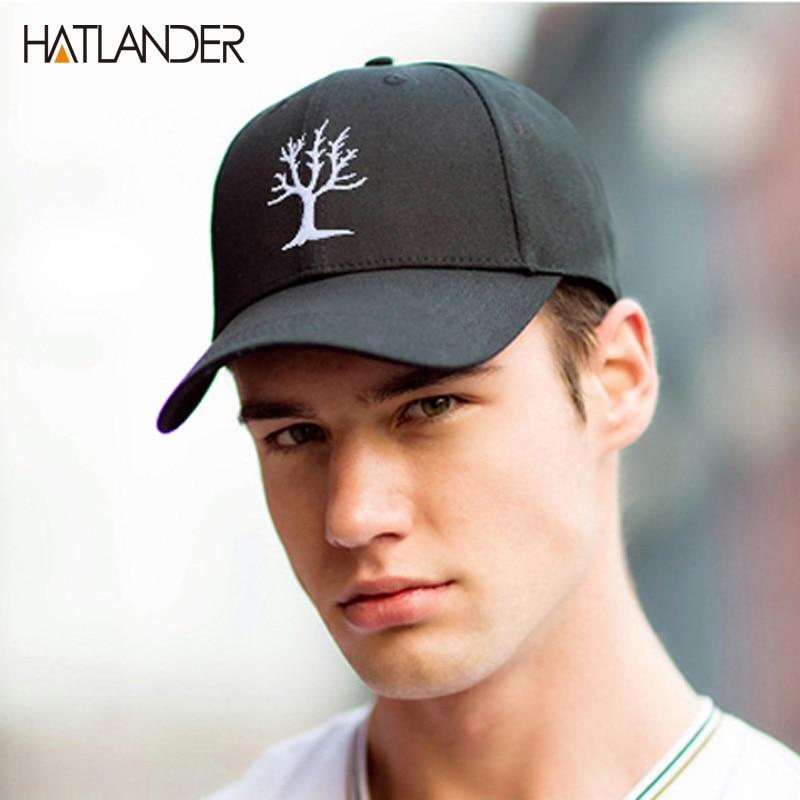 Prix pour Hatlander 2017 adulte cap broderie arbre papa chapeau chapeau occasionnel casquette hip hop snapback chapeaux femmes hommes coton casquette de baseball