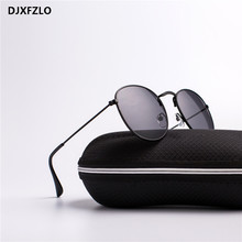 985eda3de9 DJXFZLO Metal Frames Round Sunglasses Bright Reflective Coating Lenses UV400