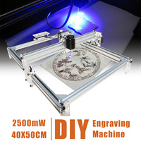 DIY Desktop Mini Laser Cutting/Engraving Machine Blue Laser 2500mW 40X50CM DC 12V Printer Carving with Laser Goggles
