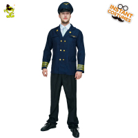 Men S Pilot Costume Adult Costume For Men Christmas Carnival Halloween Masquerade Fancy Dress Pilot Cosplay