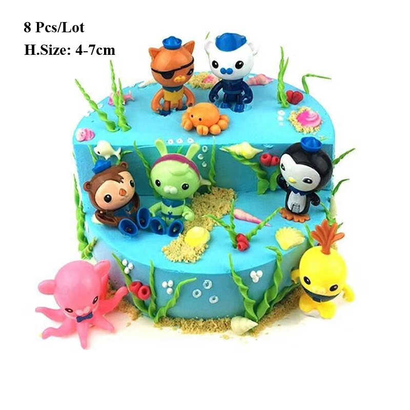 souvenir birthday cake topper kids toys boys party supplies under the sea  party decorations cake decorating topper toy gift