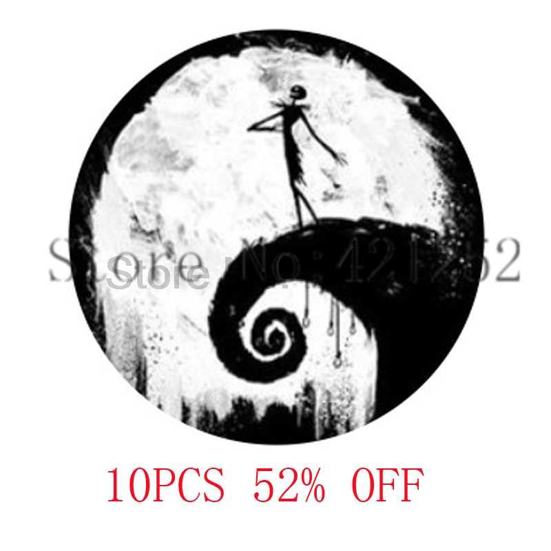 Nightmare Before Christmas Inspired Glass Photo Cabochon Necklace keyring bookmark cufflink earring