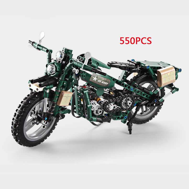 Hot technics world war II motorcycle Electric building block ww2 modern military bricks model battery operated toys collectionHot technics world war II motorcycle Electric building block ww2 modern military bricks model battery operated toys collection