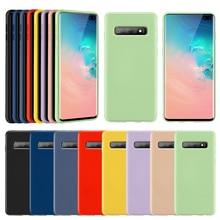KISSCASE Liquid Silicone Case For Samsung Galaxy A50 A70 A7 2018 Silicon S9 Plus S8 S10 Note 9