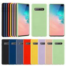 KISSCASE Ultra Soft Silicone Case For Samsung Galaxy S9 Plus S9 S8 Plus S8 S10 Plus S10 Lite Silicon Case For Samsung A50 A70(China)