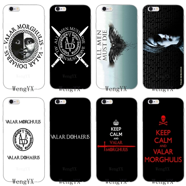 separation shoes 09ef0 5eaea US $1.99 |HanHent Valar Morghulis Game Of Thrones Soft phone case For  Xiaomi Mi 6 A1 5 5s 5x mix max 2 Redmi Note 3 4 5 5A 4X pro plus-in  Half-wrapped ...