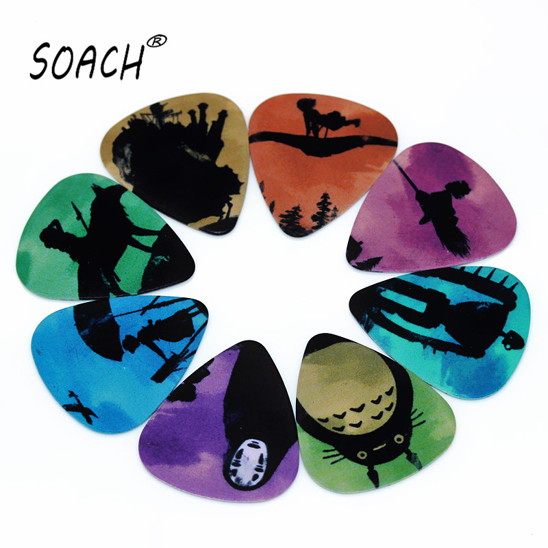 SOACH 10PCS 1.0mm High Quality Guitar Picks Two Side Pick Musical Instruments Guitarra Picks Earrings DIY Mix Picks Guitar