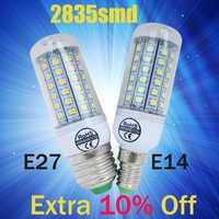 Bombilla Led caliente E27 E14 30 36 48 56 69LEDS SMD 2835 bombilla de maíz 220V lámpara de vela de LEDS Luz de foco blanco cálido