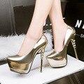Mulheres Sexy Bombas de 2017 Moda Coreano Princesa Elegantes sapatos de Salto Alto Mulheres Sapatos Dedo Apontado Mulheres Sapatos