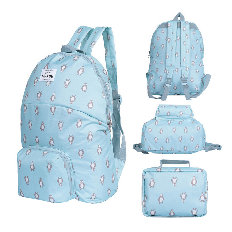 Women's Folding Travel Backpack Multi-function Shoulder Storage Case Portable Female's School Bag Accessories Supplies Products spark storage bag portable carrying case storage box for spark drone accessories can put remote control battery and other parts