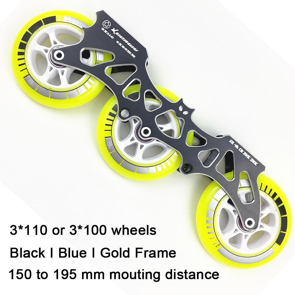 JEERKOOL Inline Slalom Slide Speed Roller Skates Frame with 100mm 110mm Wheels Aluminum Alloy Skating Base 85A Wheels DJ41