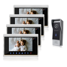 Homefong7 Inch TFT Touch Screen Color Video Door Phone Night Vision Intercom System IR sensor Color