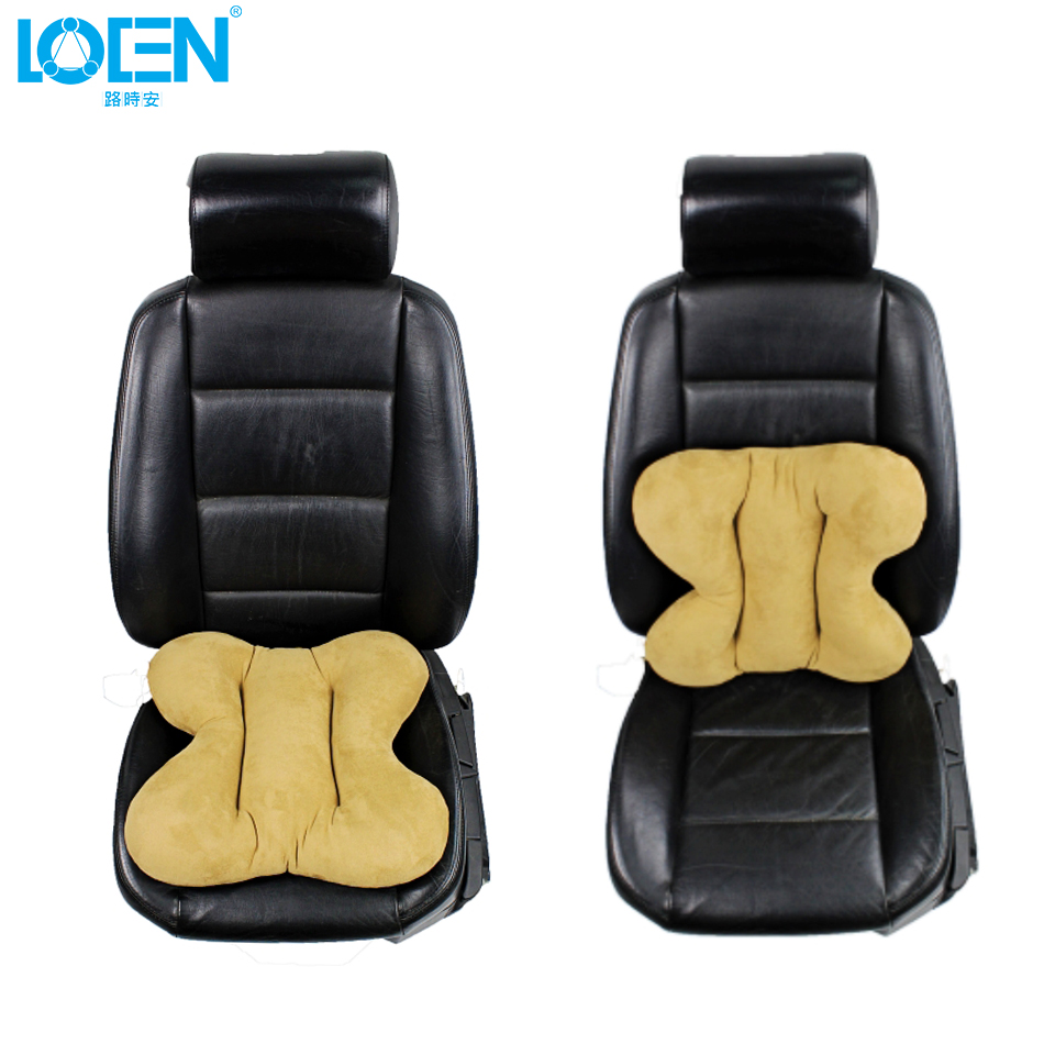 2017 new loen elastic suede lumbar back support cushion car seat covers auto office travel seat