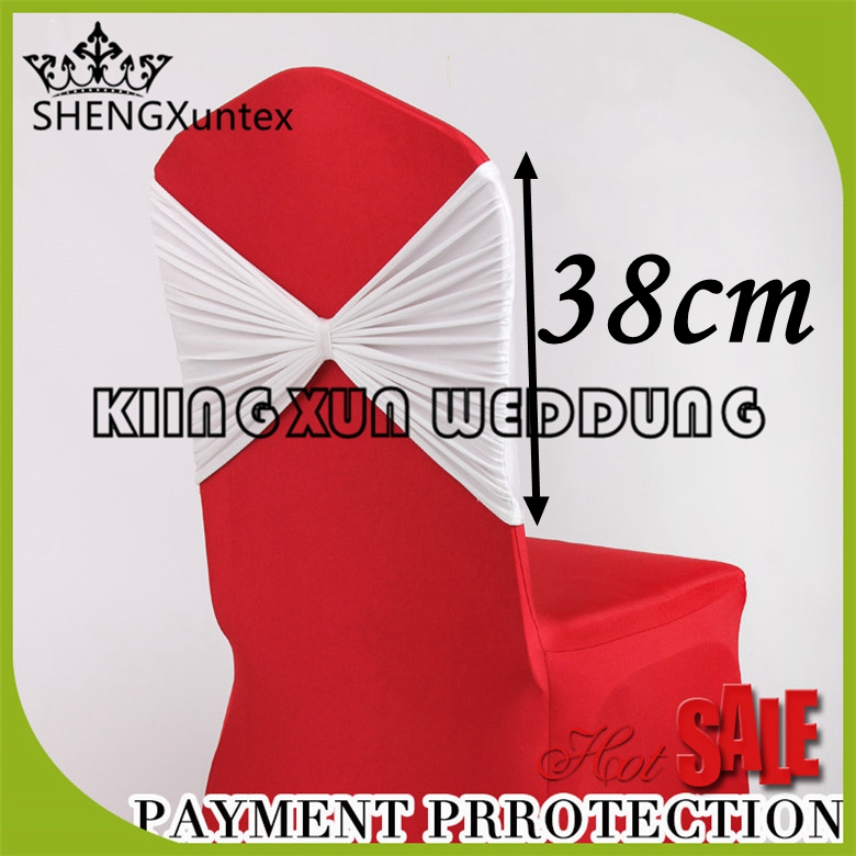 White Color Lycra Spandex Chair Hood  Chair Band For Banquet Event Wedding Decoration