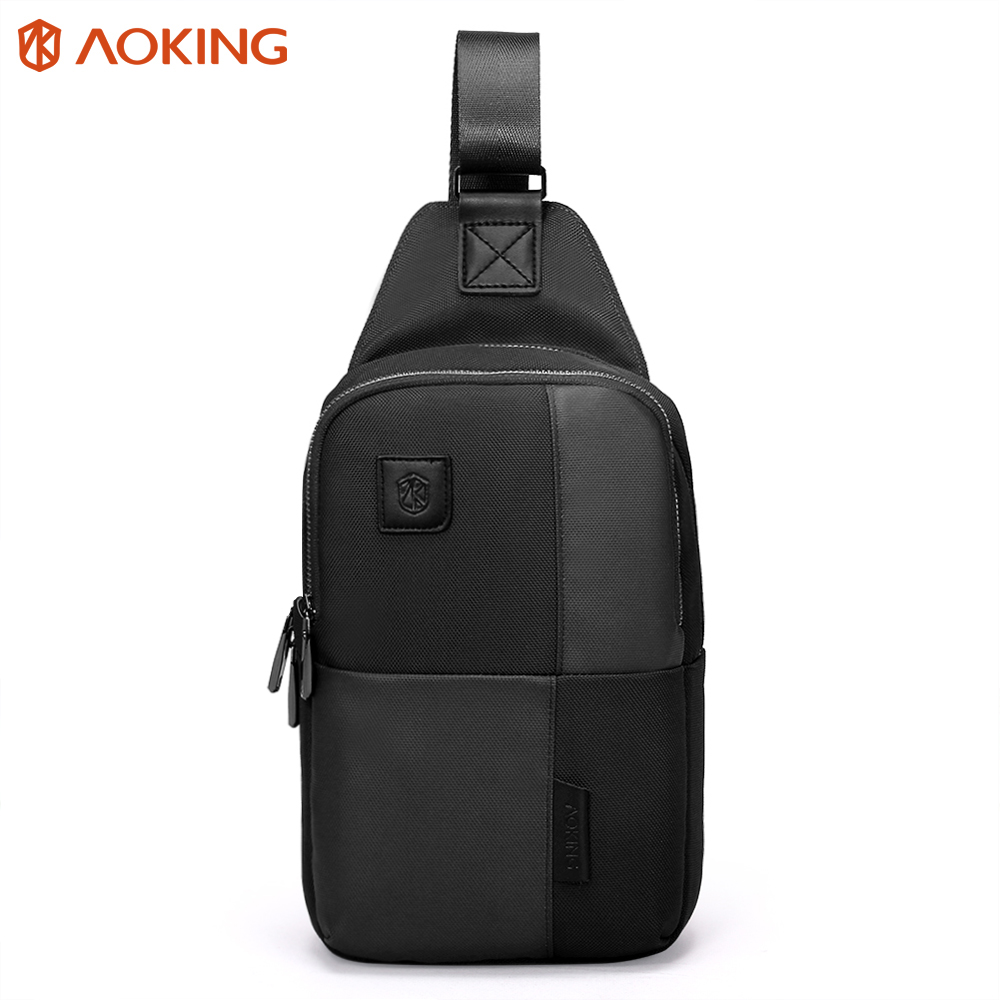 Aoking 2017 Theftproof Zipper Sling Bags Functional Mens Chest Bags Stylish Waterproof Travel Crossbody Bag Man Shoulder Bag