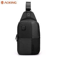 Aoking 2017 Theftproof Zipper Open Functional Mens Chest Bags Stylish Travel Crossbody Bag Man Messenger Bag