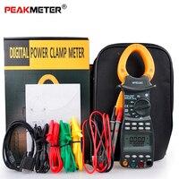 PEAKMETER MS2203 Цифровые токоизмерительные клещи Профессиональный 3 фазный цифровой мультиметр Мощность фактор 1000A измеритель переменного тока