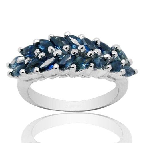 Qi Xuan_Fashion Jewelry_Dark Blue Stone Luxury Rings_Fashion Ring_S925 Solid Sliver Fashion Rings_Manufacturer Directly Sales Qi Xuan_Fashion Jewelry_Dark Blue Stone Luxury Rings_Fashion Ring_S925 Solid Sliver Fashion Rings_Manufacturer Directly Sales