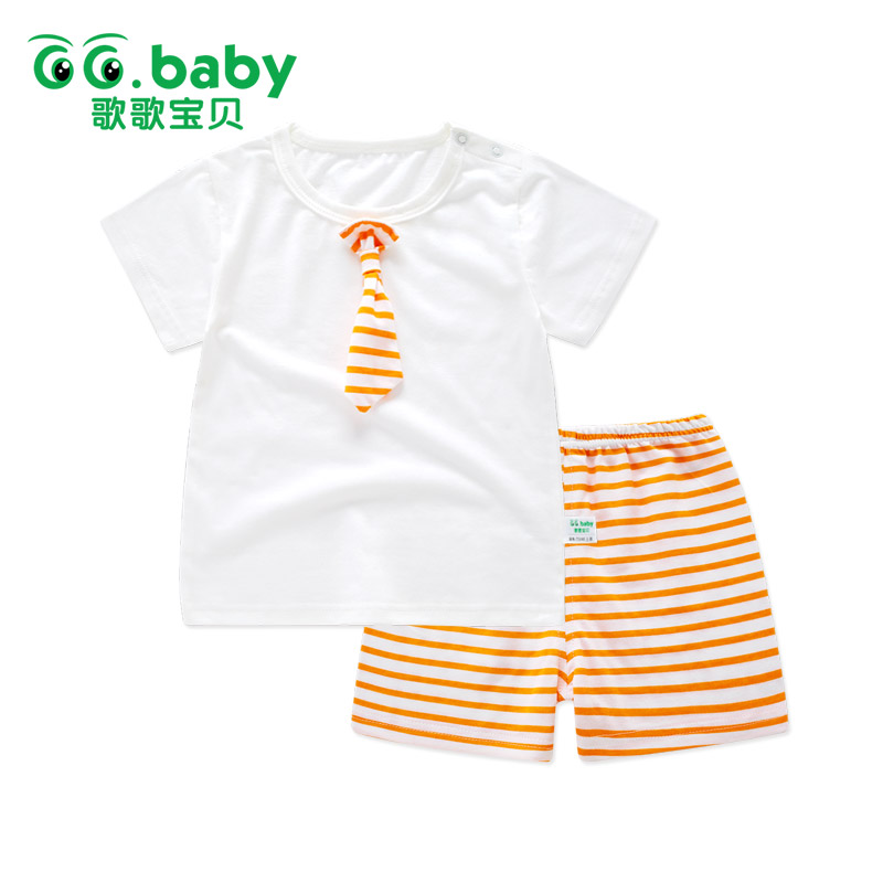 Newborn 2 Piece/Set Baby Summer Sets Clothes For Boys Cotton Striped Baby Girl Suits Short Sleeve Outfits Baby Boy Set Clothing