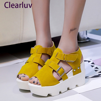 Summer fashion brand sandals women's shoes high heel casual shoes open toe wedge sandals women's shoes C0581