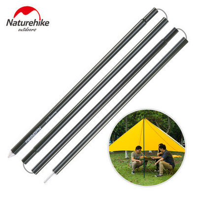 NatureHike 2m*2pcs Aluminium Alloy 4 Section Canopy Porch Tent Upright Poles for sun shelter Tarp Tent Cover Awning Rod