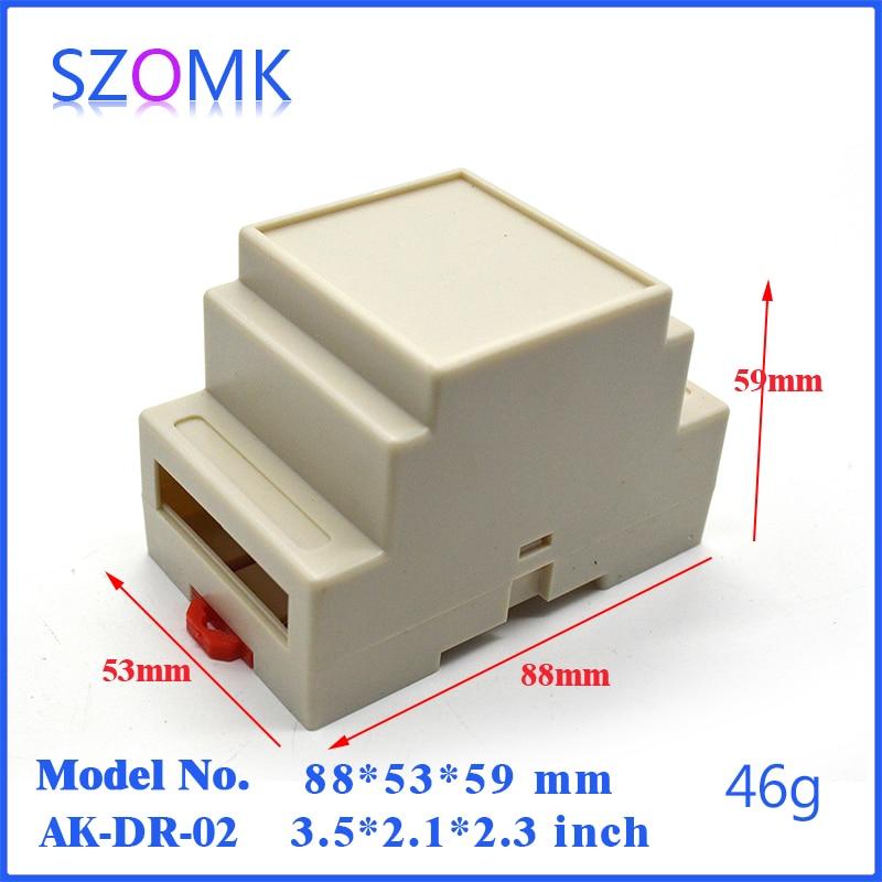 20 pcs plastic din rail electric box distribution enclosure 88 53 59mm abs enclosure for electronics