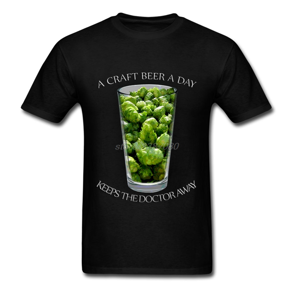 A Craft Beer A Day Printed T Shirts Latest Men O-Neck Tshirt Humor Short Sleeve Mens Tee