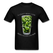 """""""A Craft Beer a Day Keeps the Doctor Away"""" men's t-shirt"""