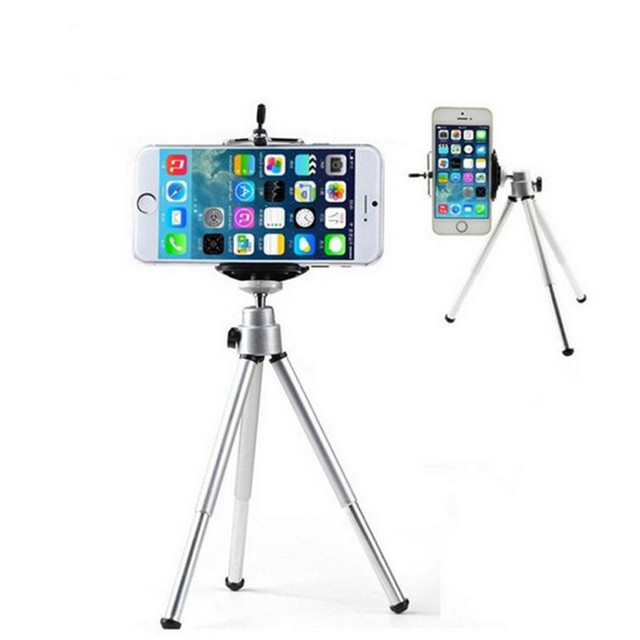 Mini Table Tripod Stand Phone Mount With Clip Holder For Gopro Camera Self Timer Stand For iphone 6S 7sSamsung s6Huawei P7