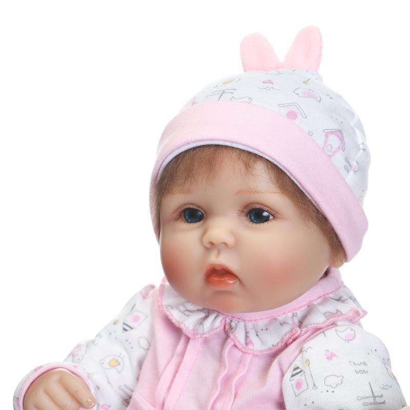 Lifelike Baby Doll Simulaition Playing Toys For Girl Reborn Babies Child Playmate Gentle Hand implanted Mohair 42cm