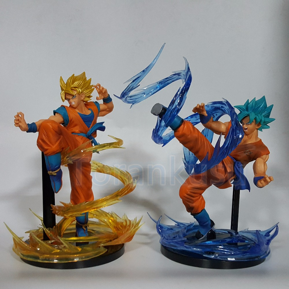 Dragon Ball Z Action Figure Son Goku Super Saiyan FES With Effect PVC Figure Toy Anime Dragon ball Goku Collectible Model DIY148 anime dragon ball figuarts zero super saiyan 3 gotenks pvc action figure collectible model toy 16cm kt1904