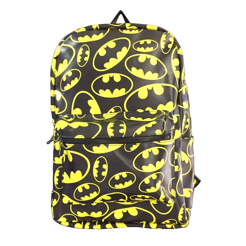 New Designs Batman Bakcpack for Students Teenager Men Women Casual Leather School Bag with Computer Interlayer mochila Backpacks