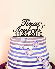 Custom Date&Name Romantic Personalised Cake Toppers Anniversaire Party Decoration Bride Supplies Custom Cake Toppers Married