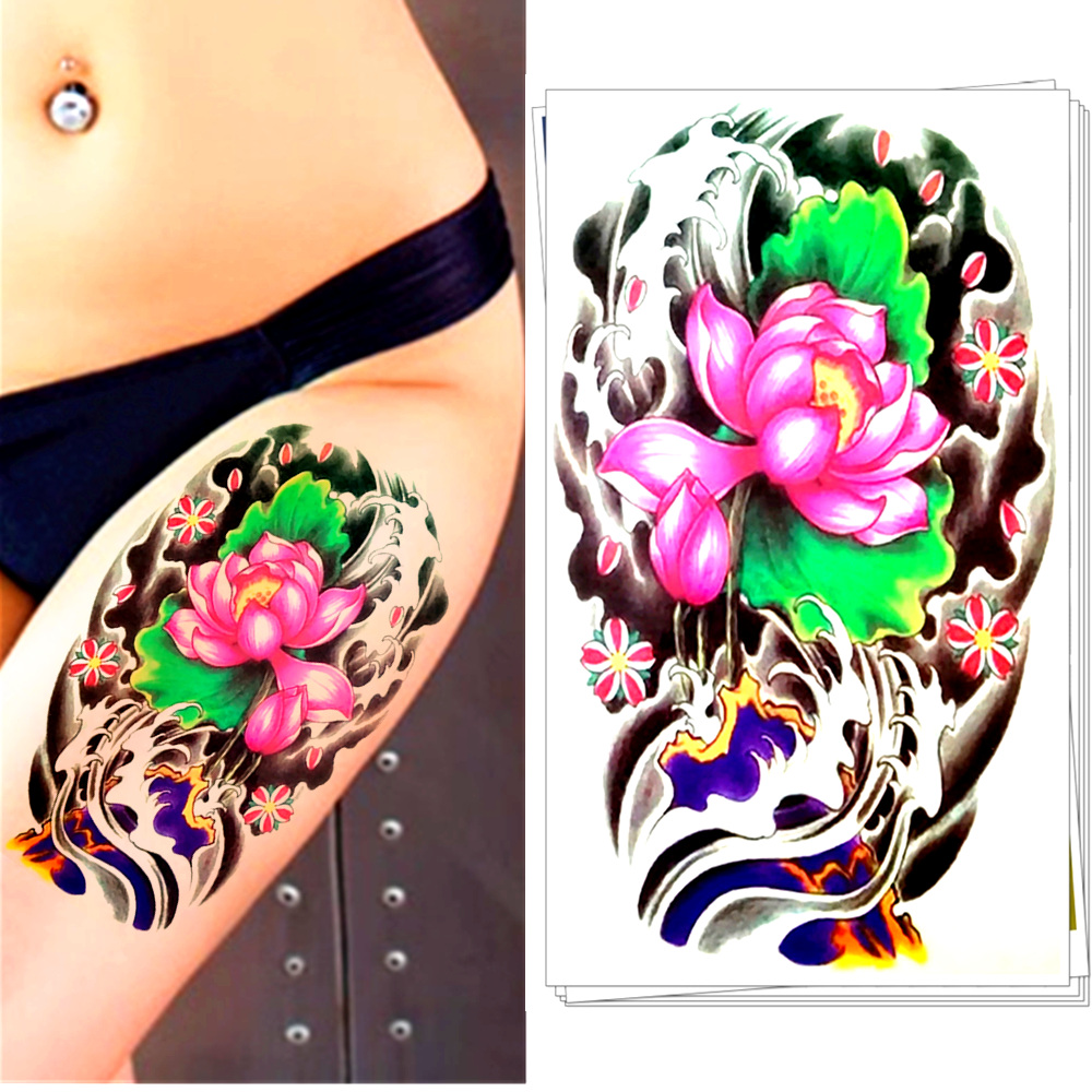 Compare prices on flower lily tattoos online shopping buy for Painless permanent tattoos
