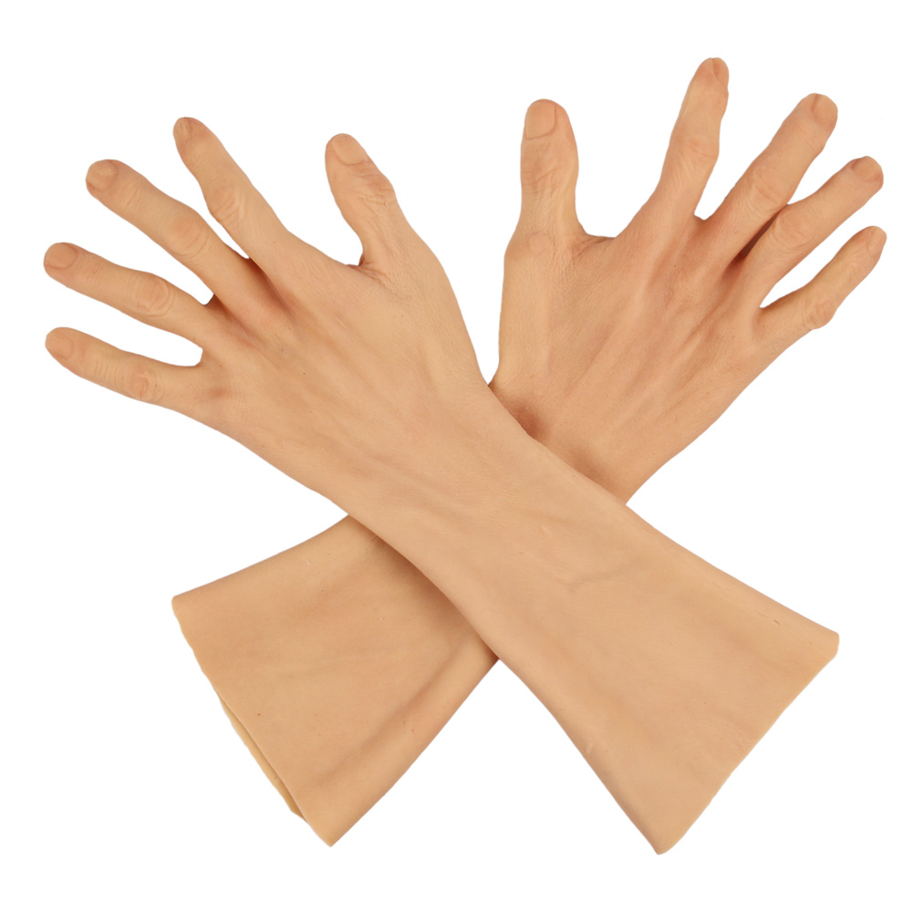 Hoch Simulierte Haut Künstliche Silikon Hand Handschuh Abdeckung Narben Gefälschte Silikon Hand Prothese Für Hand Verletzungen Crossdresser-in Hosenträger und Unterstützungen aus Haar & Kosmetik bei AliExpress - 11.11_Doppel-11Tag der Singles 1