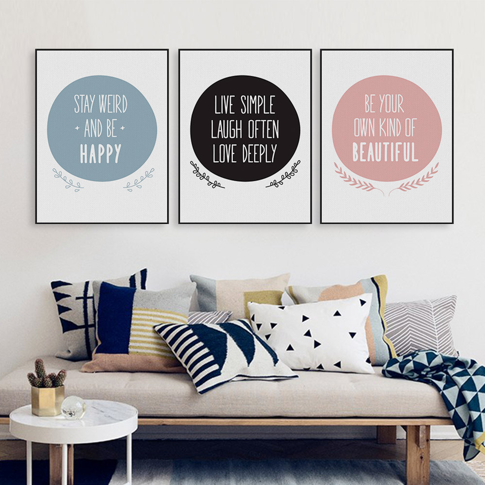 Nordic Motivational Positive Quote Canvas Art Print Poster Big ...