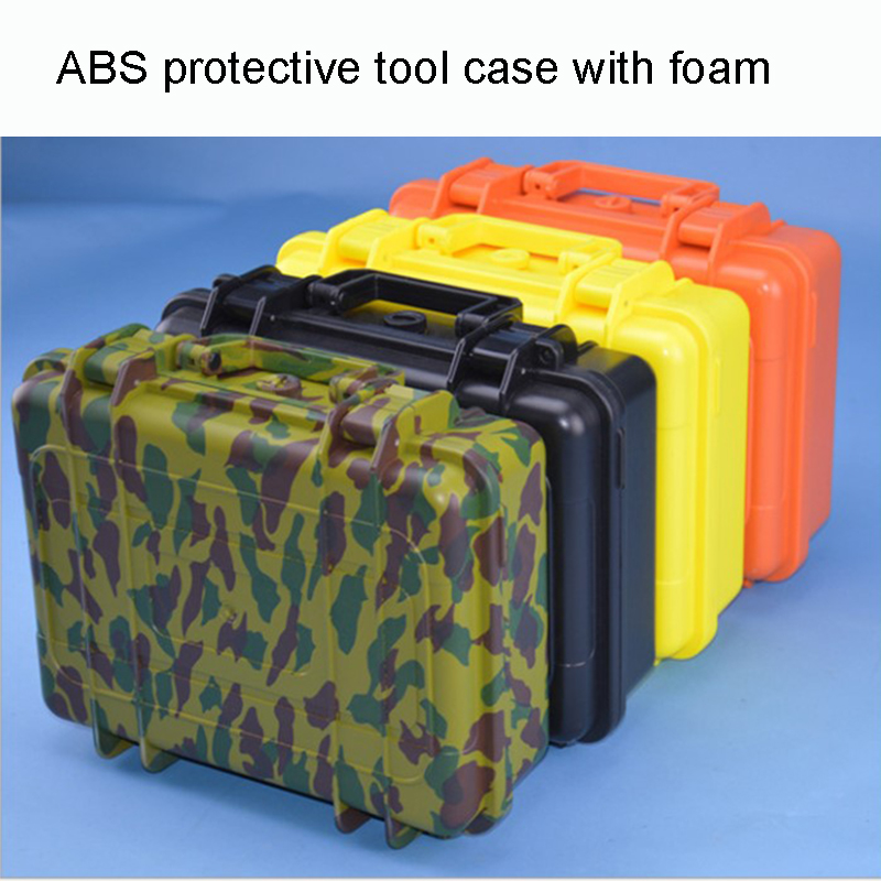 Hot Sale Protective Case ABS Tool Case Toolbox Impact Resistant Sealed Waterproof Camera Case With Cut Foam Shipping Free